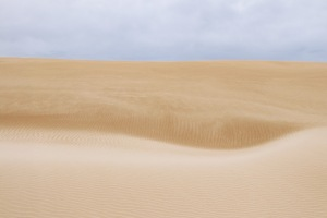 Overcast skies but awesome and curvy sand dunes to explore, Eyre Peninsula